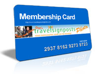 Travel Signposts Photo Membership Card